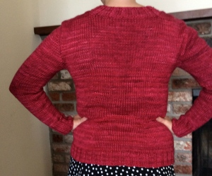 Back view (waist shaping!)