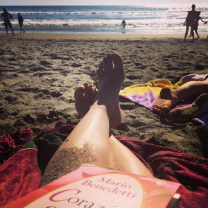 For the first time since I had kids, I took a book to the beach!  I actually got to read a few poems in between fetching water, chasing waves, and digging holes.