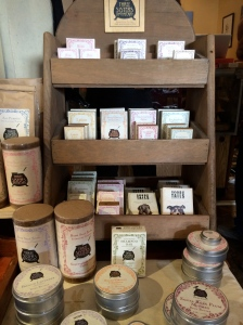 Locally made soaps, etc.