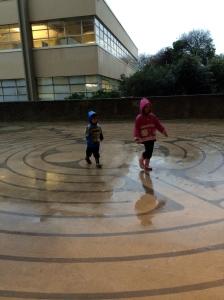 Wee ones in the rain.