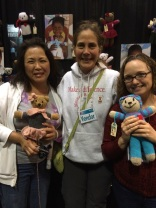 With Amy (who runs the NPO), and another bear knitter!