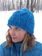 bulky cable hat 1